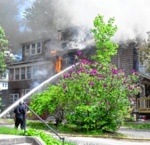 FIREFIGHTER INJURED AT HOUSE FIRE IN MASS.