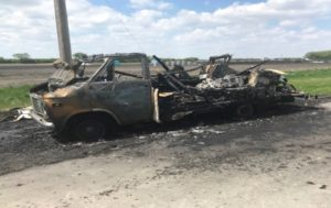 CANADIAN FIRE CHIEF RAMS BURNING VEHICLE AWAY FROM HOMES