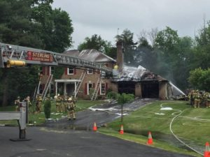 FIREFIGHTER AND RESIDENT INJURED AT VA FIRE