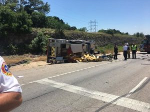 APPARATUS ROLLOVER IN TX – DRIVER SUFFERS MEDICAL EMERGENCY