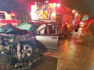 2 FIREFIGHTERS STRUCK ON I-95