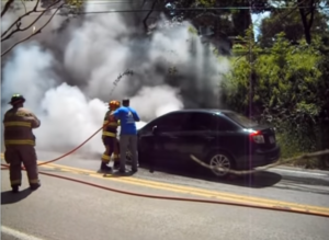 NO PPE, NO SCBA AND ANOTHER CAR FIRE
