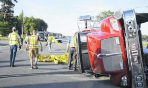 FIRE APPARATUS ROLLS OVER IN NORTH CAROLINA WHILE RESPONDING