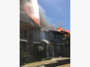 FIREFIGHTER INJURED AT PA FIRE