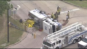 FIREFIGHTER SERIOUSLY INJURED IN TEXAS RESPONDING FIRE APPARATUS CRASH-INTERSECTION