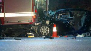 CAR SLAMS SAN JOSE ENGINE – MISSES FIREFIGHTER