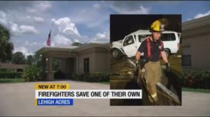 FLA. FIREFIGHTERS RESUSCITATE ONE OF THEIR OWN AT FIRE STATION