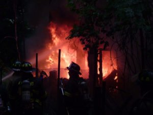 FIREFIGHTER INJURED AT PA VACANT HOUSE FIRE