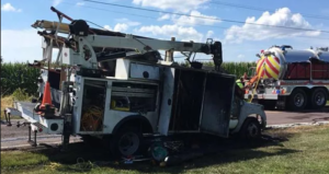 ST. CHARLES MO FIREFIGHTER INJURED IN COMMERCIAL VEHICLE EXPLOSION