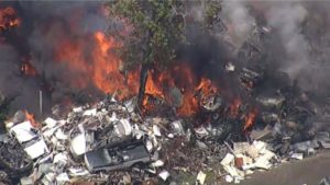 FIREFIGHTER INJURED AT GIANT NC SCRAPYARD FIRE
