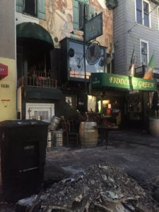 SF CA FIREFIGHTER INJURED AT HISTORIC BAR FIRE