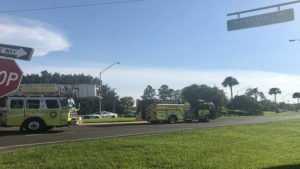 FLORIDA FIREFIGHTER SERIOUSLY INJURED-FLOWN OUT FROM FIRE HOUSE
