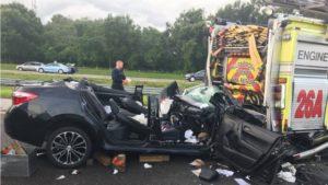 FL Apparatus Struck During Crash Response