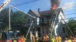 PORT JERVIS FIREFIGHTER INJURED – ROOF OPS CLOSECALL
