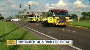 FL FIREFIGHTER AIRLIFTED AFTER FALLING OUT OF RIG