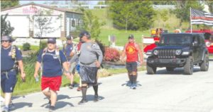 FIREFIGHTERS DO 6-DAY, 100-MILE WALK FOR CANCER, SUICIDE AWARENESS