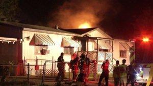 TX FIRE OFFICER SUFFERS AIRWAY BURNS AT TRAILER FIRE