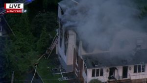 2 FIREFIGHTERS INJURED AT PA FIRE