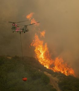 Firefighter airlifted to hospital as Miriam Fire (Washington) near White Pass rages uncontained