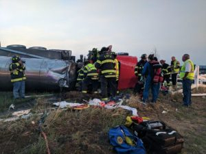 2 CO FIREFIGHTERS CRITICAL/AIRLIFTED AFTER ROLLOVER CRASH
