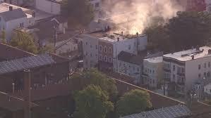 NJ FIREFIGHTER FALLS OFF ROOF IN NEWARK