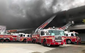 18 FDNY FIREFIGHTERS INJURED AT 6 ALARM PARKING GARAGE FIRE