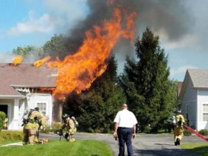 2 FIREFIGHTERS INJURED AT HUNTLEY, IL FIRE