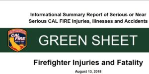 FIREFIGHTER INJURY AND FATALITY REPORT: MENDOCINO (CALIF) COMPLEX FIRE