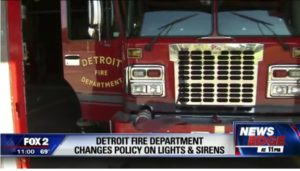 DETROIT FIRE UNION CHALLENGES NO LIGHTS, SIRENS PROTOCOL
