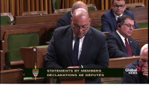 CANADIAN LAWMAKER HONORS FIREFIGHTER FOLLOWING SUICIDE