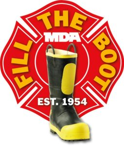 FIREFIGHTER'S FOOT RUN OVER: REMINDER: USE CAUTION WHEN ON THE ROADWAYS COLLECTING FOR BOOT DRIVES