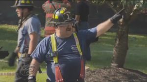 TWO N.J. FIREFIGHTERS SUFFER MINOR INJURIES AT HOUSE FIRE