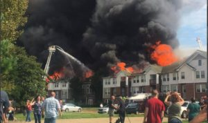 VIDEO: TWO OHIO FIREFIGHTERS HURT AT 48-UNIT HOUSING BLAZE
