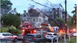 PA. FIREFIGHTER INJURES RIBS AT HOUSE FIRE