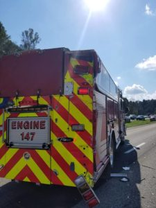 WV FIREFIGHTERS HURT WHEN ENGINE SIDE-SWIPED/REAR ENDED
