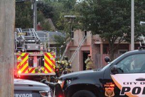WI FIREFIGHTER FALLS THRU FLOOR AT FIRE