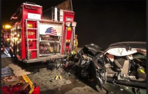 OHIO FIRE ENGINE REAR-ENDED EN ROUTE TO ROLL OVER CRASH