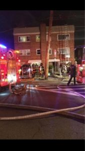 FIREFIGHTER FALLS FROM GROUND LADDER-SEVERAL FRACTURES