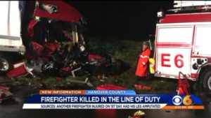 FIRST DAY ON JOB FIREFIGHTER LOST LEG IN CRASH THAT KILLED VA. FIREFIGHTER