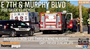MO FIRE COMPANY COLLIDES WITH MAN ON BIKE