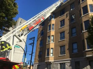 VANCOUVER FIREFIGHTER INJURED AT FIRE