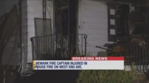 N.J. FIRE CAPT. FALLS THROUGH STAIRS AT VACANT HOUSE FIRE