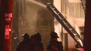 FIREFIGHTER FALLS THRU FLOOR AT GA APARTMENT FIRE
