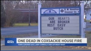 LIFETIME N.Y. FIRE COMPANY MEMBER DIES IN HOUSE FIRE, WIFE RESCUED