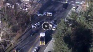 CAR PASSING FIRE TRUCK HITS AMBULANCE, 2 INJURED