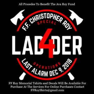 WORCESTER FIREFIGHTER CHRIS ROY'S DAUGHTER T-SHIRT FUNDRAISER & ADDITIONAL LEARNING RESOURCES REGARDING LAST WEEKENDS FIRE