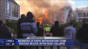 DALLAS RIT TEAM RESCUES FIREFIGHTERS AT CONDO FIRE