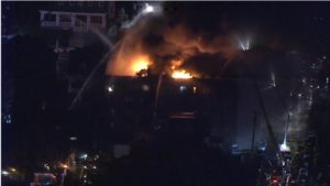 TWO PHILLY FIREFIGHTERS BURNED AT 5-ALARM BLAZE