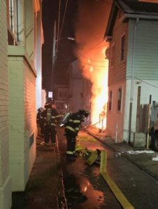 NJ FIREFIGHTER FALLS THRU FLOOR – SUFFERS INJURIES AT FIRE