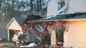 3 PA FIREFIGHTERS HURT AT FATAL FIRE